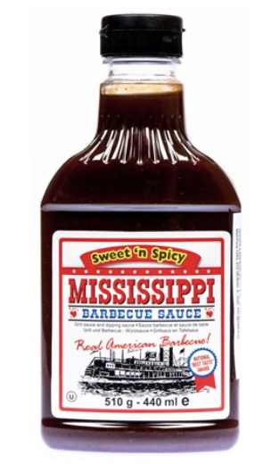 Mississippi Barbecue omáčka sweet/spicy 510g